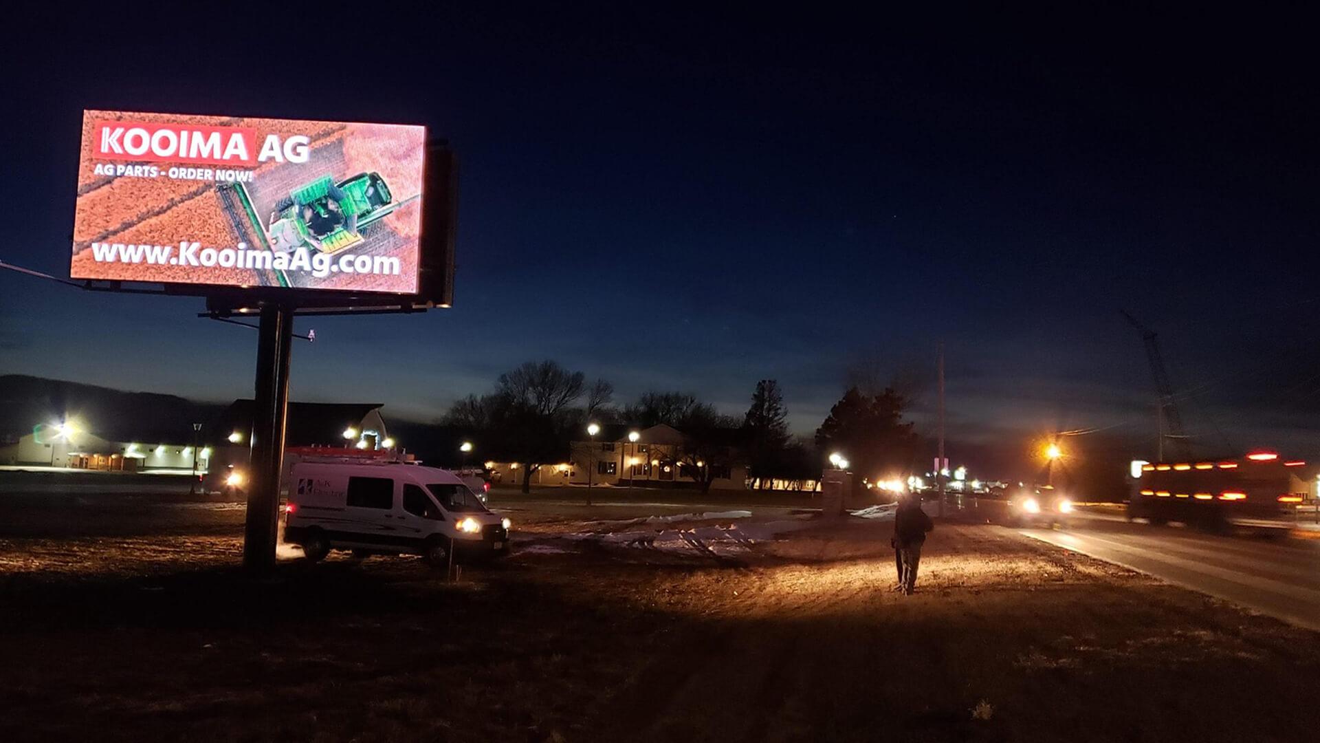 Canton, South Dakota - 11' x 22' Double Sided Billboard