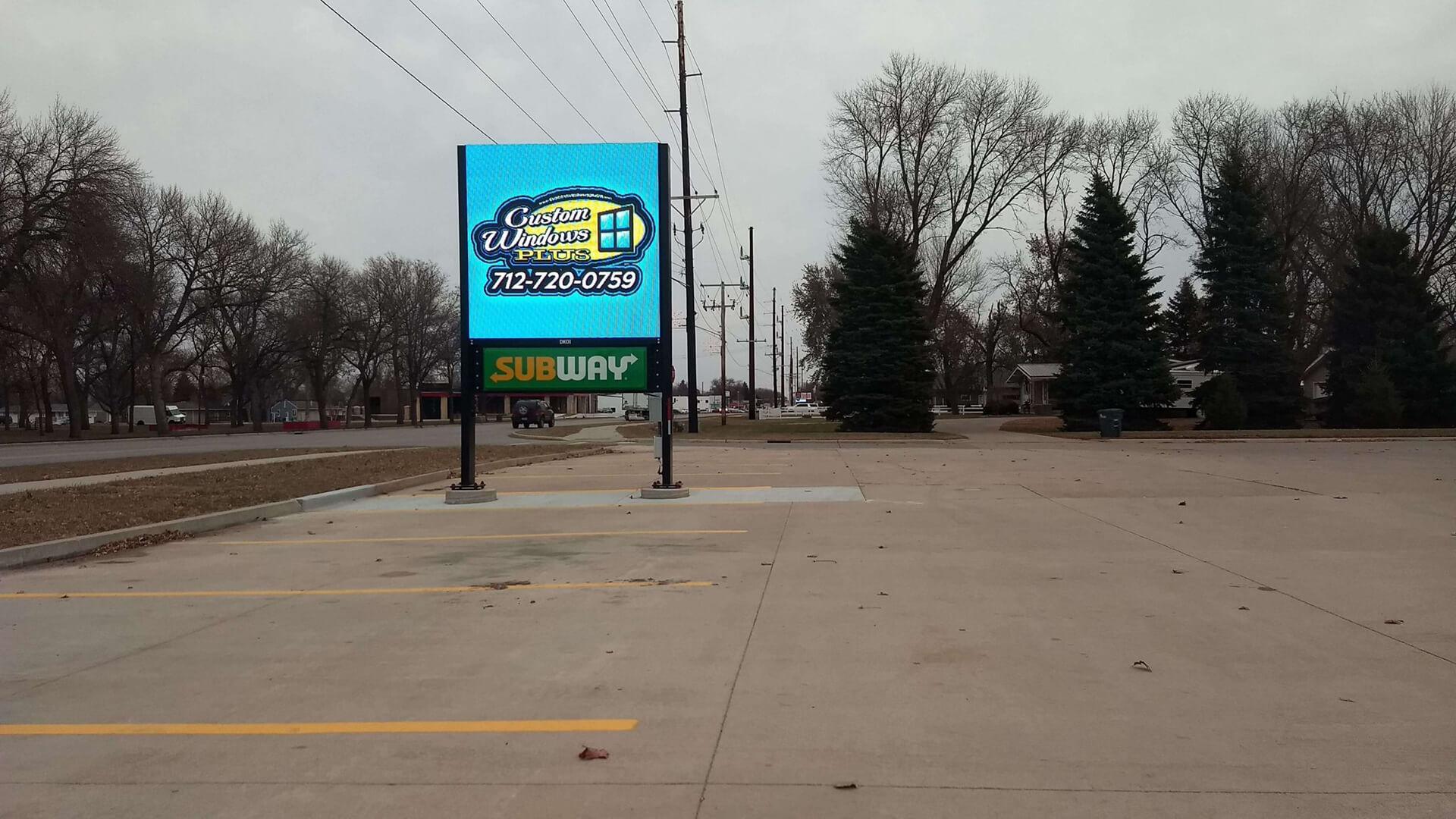 Rock Valley, Iowa - 8' x '8' Double Sided Billboard
