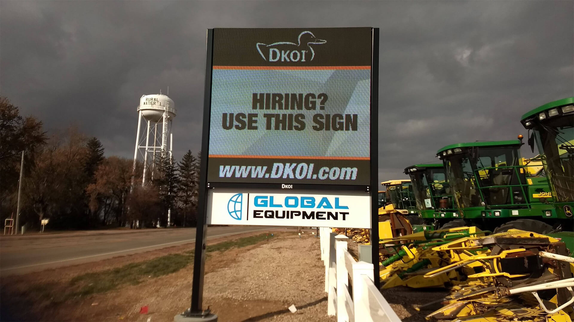 Sioux Center, Iowa - 8' x 8' Double Sided Billboard